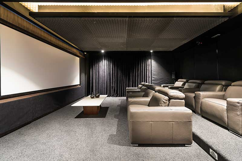 Home theatre room with state of the art technology